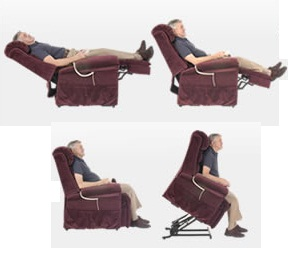Electric lift chair positions